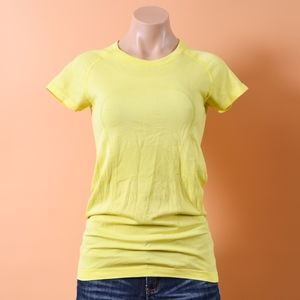 Lululemon Swiftly Tech Short Sleeve Crew Lemon Ice